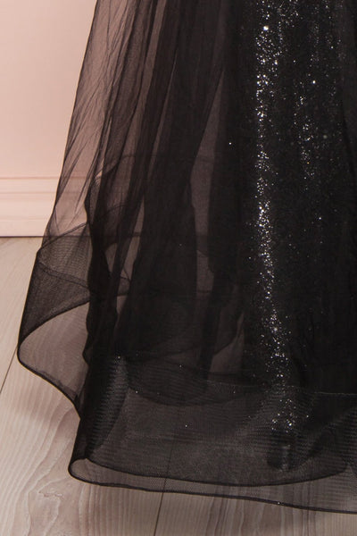 Letha Black Tulle & Beaded Gown | Robe Maxi skirt | Boutique 1861