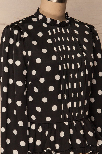 Lethnot | Black Polka Dot Top