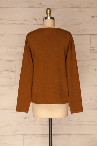 Lezajask Brown Long Sleeve Top | La petite garçonne back view