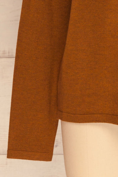 Lezajask Brown Long Sleeve Top | La petite garçonne bottom