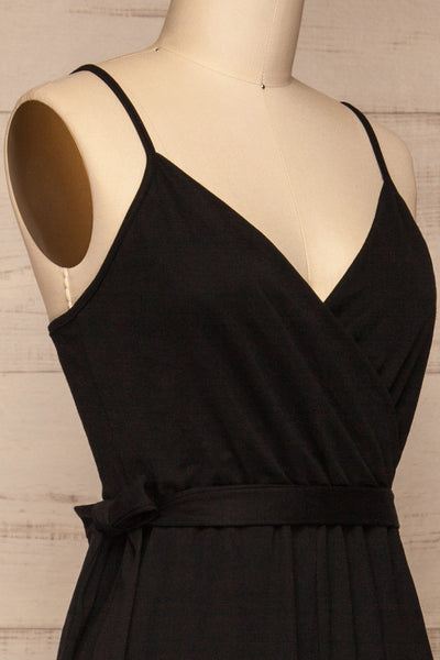 Limanowa Black Jumpsuit | Combinaison | La Petite Garçonne side close-up