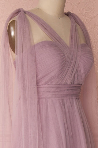 Linaya Lilac Draped Bustier Empire Gown | Boudoir 1861