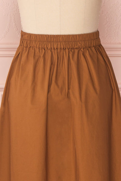 Linor Brown Button-Up High Waisted Skirt | Boutique 1861 6