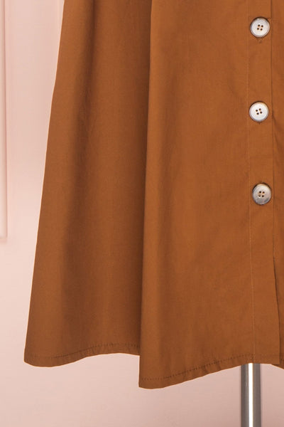 Linor Brown Button-Up High Waisted Skirt | Boutique 1861 7