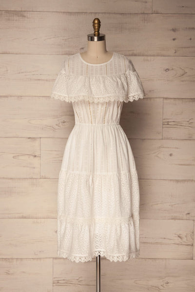 Lippelo White Midi Dress With Embroidery | La Petite Garçonne Chpt. 2