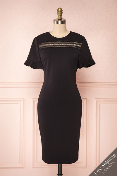 Livsia Black Cocktail Dress with Cut-Outs by Ted Baker | Boutique 1861