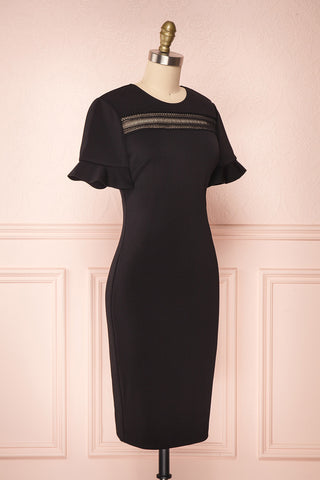 Livsia Black Cocktail Dress with Cut-Outs by Ted Baker | Boutique 1861 side view