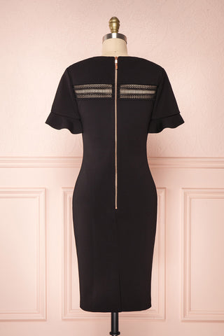 Livsia Black Cocktail Dress with Cut-Outs by Ted Baker | Boutique 1861 back view
