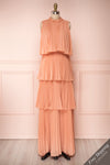 Lizbeth Coral Layered Ruffle Maxi Dress | La petite garçonne