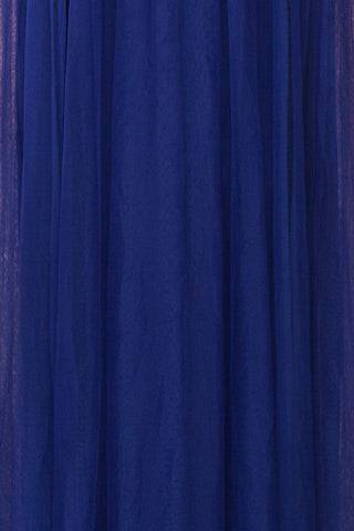 Loranne Royal Blue Maxi Dress | Robe Maxi fabric | Boutique 1861