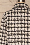 Louise Black Short Houndstooth Jacket | La petite garçonne back close up