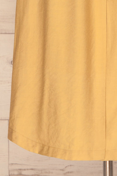 Lowenstein Yellow Button-Up Midi Dress | La petite garçonne bottom