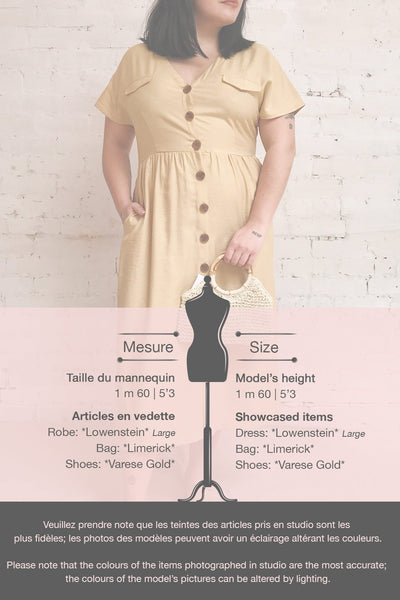 Lowenstein Yellow Button-Up Midi Dress | La petite garçonne template