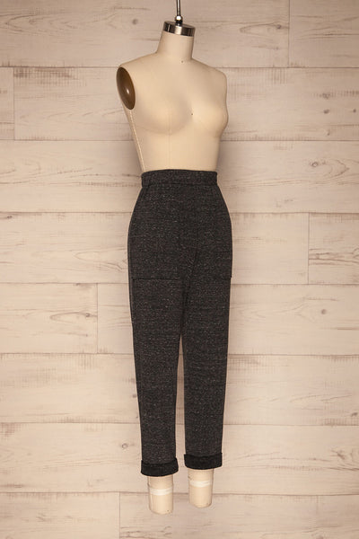 Lubeck Grey Jogging Pants | Pantalon | La Petite Garçonne side view