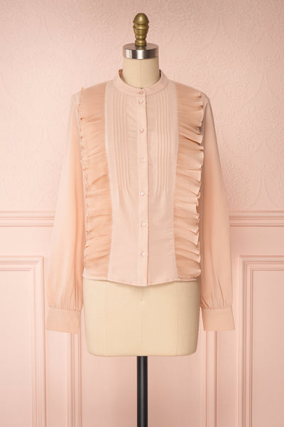 Lubien Dusty Rose Pink Long Sleeved Shirt | Boutique 1861 front view
