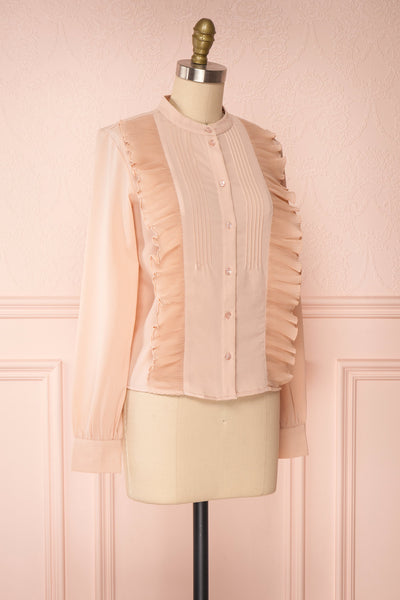Lubien Dusty Rose Pink Long Sleeved Shirt | Boutique 1861 side view