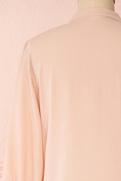 Lubien Dusty Rose Pink Long Sleeved Shirt | Boutique 1861 back close-up