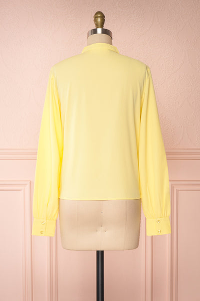 Lubien Yellow Long Sleeved Cropped Shirt | Boutique 1861 back view