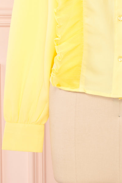 Lubien Yellow Long Sleeved Cropped Shirt | Boutique 1861 bottom