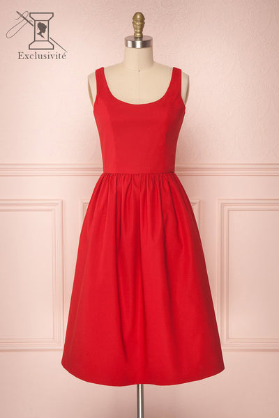 Lupina Red A-Line Cocktail Dress | Boutique 1861