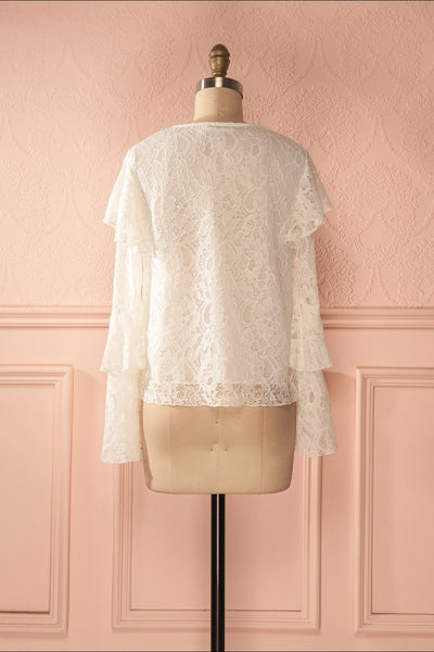 Lynnie Light - White lace ruffled blouse 5