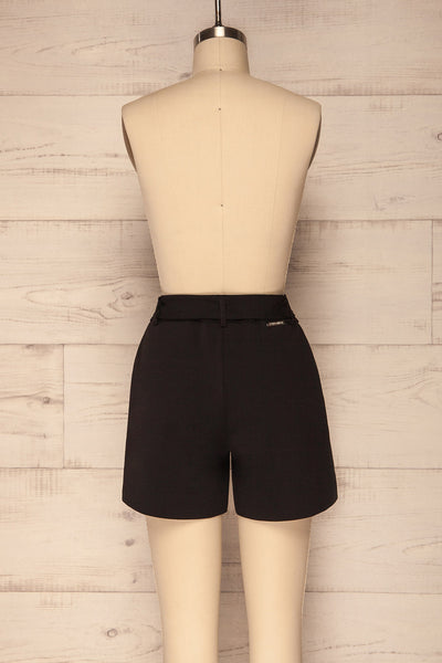 Lysekil Black Shorts w/ Pockets | La petite garçonne back view