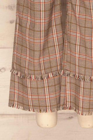 Macclesfield Grey & Red Plaid Pants | La Petite Garçonne bottom close-up