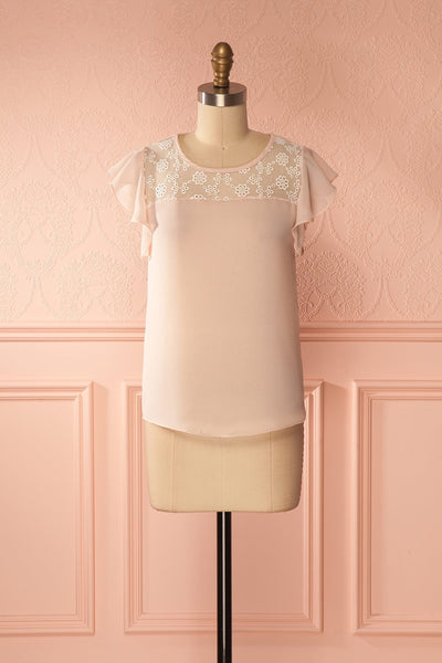 Maguelone Light Pink Ruffles Sleeves Top | Boutique 1861 1