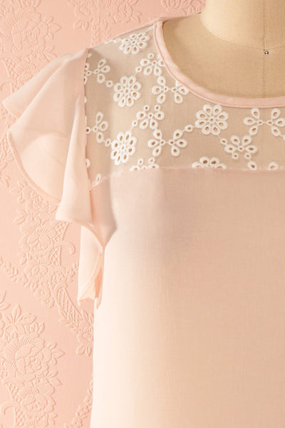 Maguelone Light Pink Ruffles Sleeves Top | Boutique 1861 2