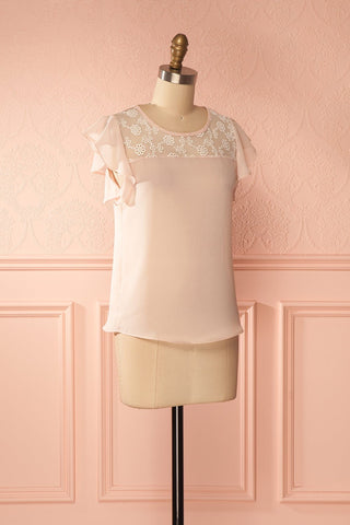 Maguelone Light Pink Ruffles Sleeves Top | Boutique 1861 3
