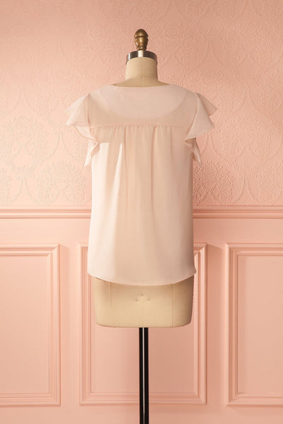 Maguelone Light Pink Ruffles Sleeves Top | Boutique 1861 5