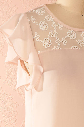 Maguelone Light Pink Ruffles Sleeves Top | Boutique 1861 4