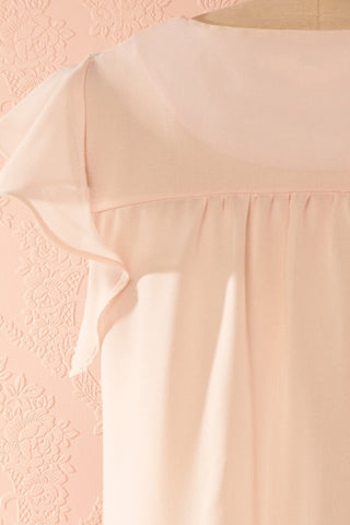 Maguelone Light Pink Ruffles Sleeves Top | Boutique 1861 6