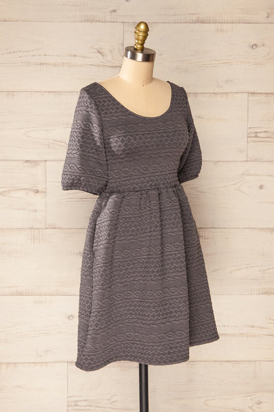 Maihori Short Grey Knitted Dress | La petite garçonne side view