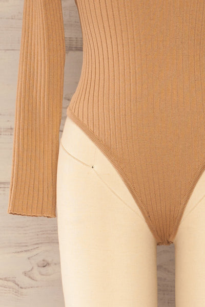 Mainz Taupe Long Sleeve Turtleneck Bodysuit | La petite garçonne bottom