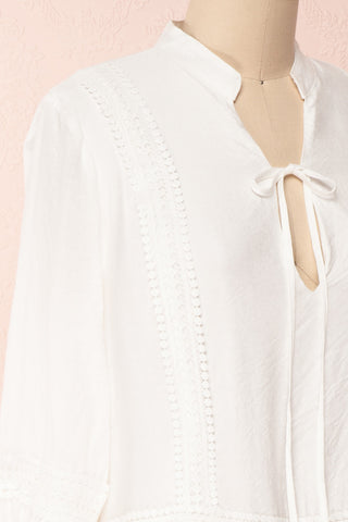 Makanui White Tunic Dress with Bell Sleeves | Boutique 1861