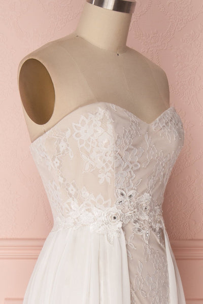 Makerata Beige Lace Bustier Mermaid Bridal Dress | Boudoir 1861 5