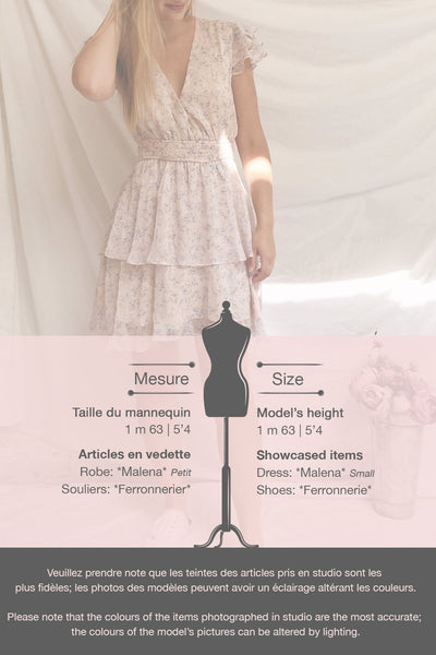 Malena Light Pink Floral Short Dress | Boutique 1861 template