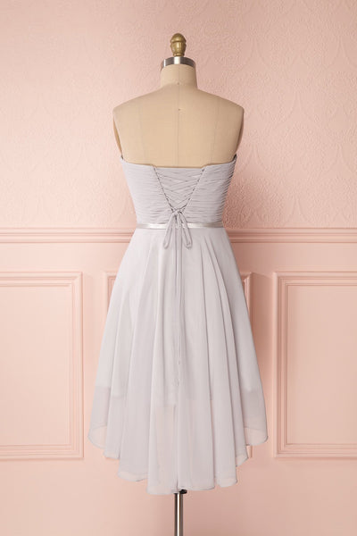 Maliha Grey | Bustier Prom Dress