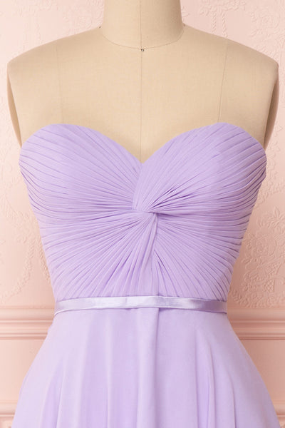 Maliha Lilac Bustier A-Line Prom & Bridesmaid Dress | Boudoir 1861 2