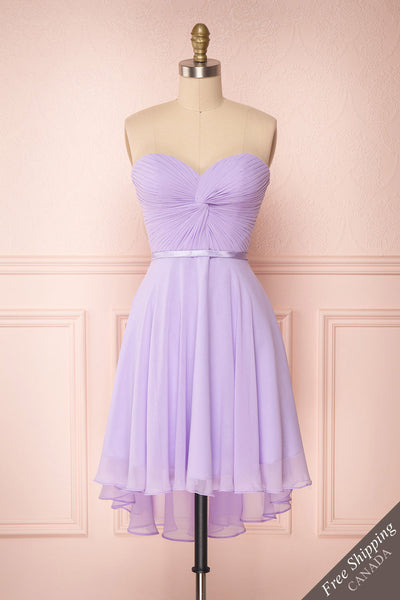Maliha Lilac Bustier A-Line Prom & Bridesmaid Dress | Boudoir 1861 1
