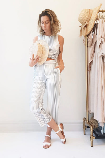 Byklo White, Blue & Lilac Striped Straight Pants | La Petite Garçonne 2
