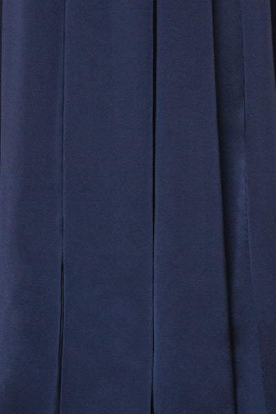Mana Navy Blue Maxi Dress w/ Sequins | Boutique 1861 fabric
