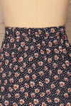 Margotte Navy Blue Short Floral Skirt | La petite garçonne back close up