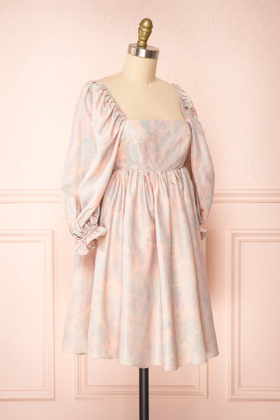 Marinna Pastel Puffy Long Sleeve Midi Dress | Boutique 1861 side view