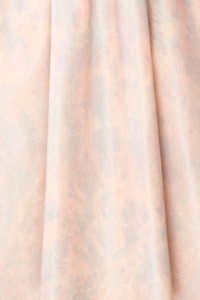 Marinna Pastel Puffy Long Sleeve Midi Dress | Boutique 1861 fabric