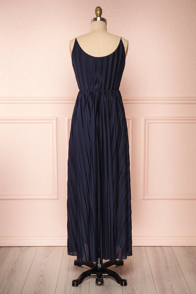 Marly Rain Navy Blue Sleeveless A-Line Dress | Boutique 1861 back view