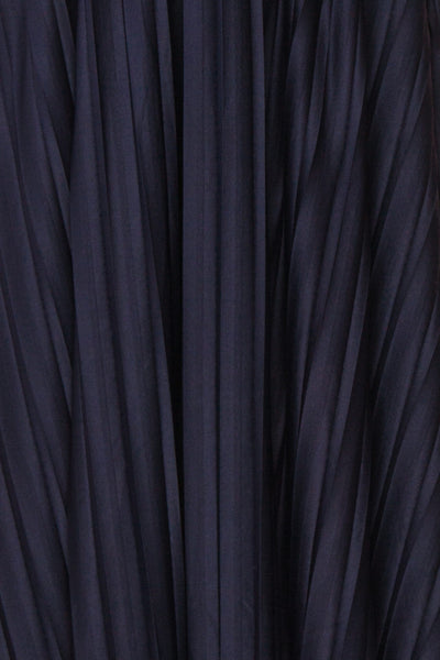 Marly Rain Navy Blue Sleeveless A-Line Dress | Boutique 1861 fabric