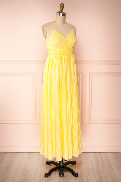 Marly Sun Yellow Sleeveless A-Line Dress | Boutique 1861 side view