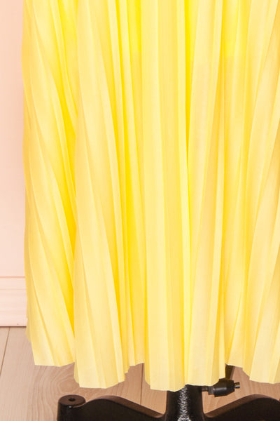 Marly Sun Yellow Sleeveless A-Line Dress | Boutique 1861 bottom